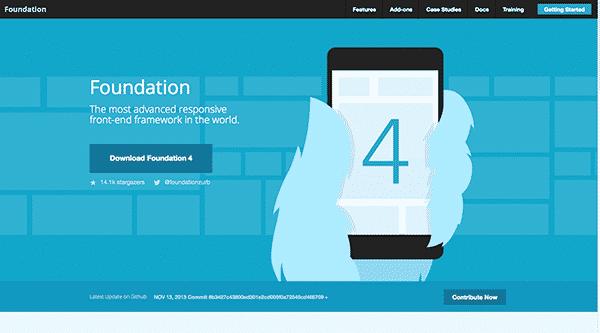 foundation framework for responsive web design