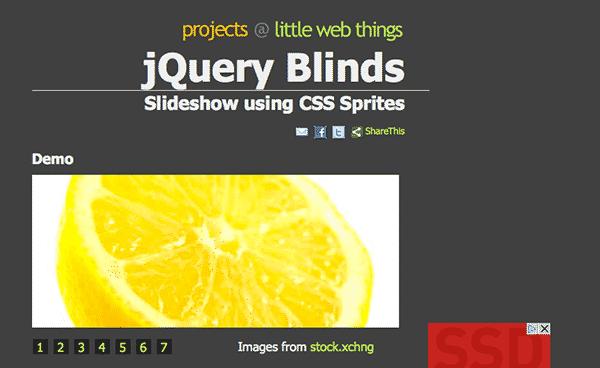 jquery blinds jquery slider