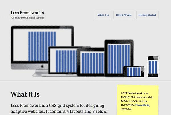 Less Framework for responsive web design
