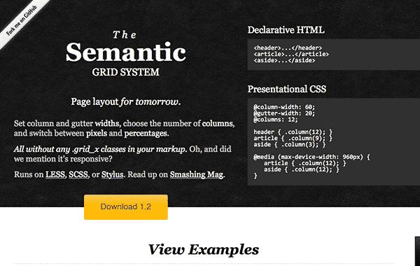 semantic grid system for responsive web design