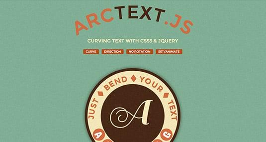 jquery plugins ArcText