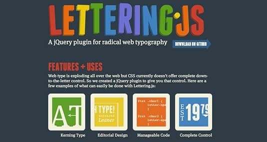 jsquery plugins Lettering.js