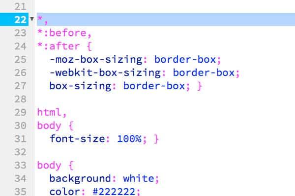 box sizing border box