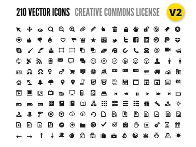 210 Simple Vector Icons