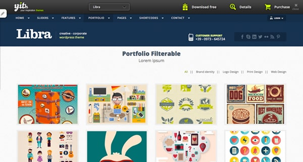 Libra Free Wordpress Theme - Web Design Blog