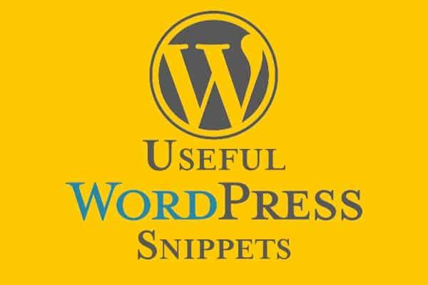 usefull wordpress snippets