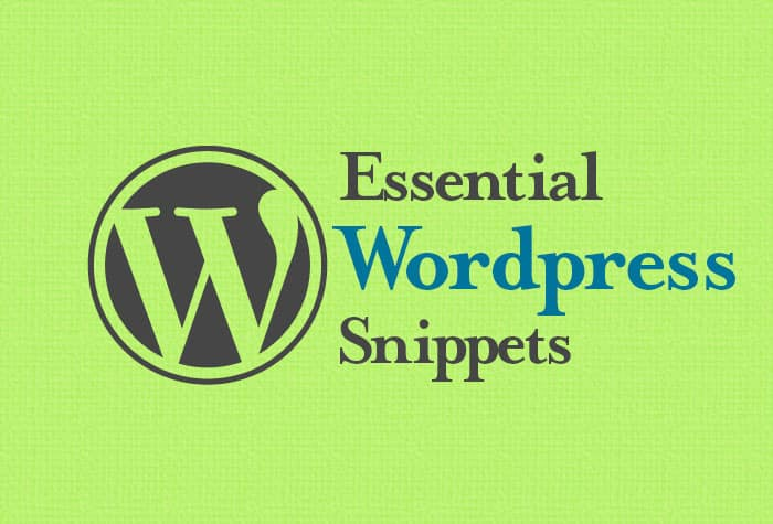 essential WordPress snippets
