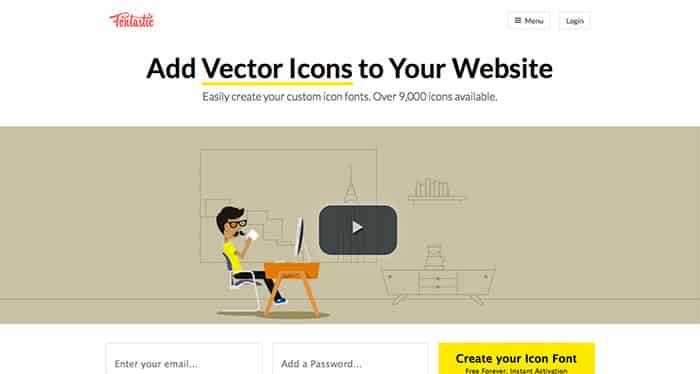 Web Design Inspiration: Fontastic