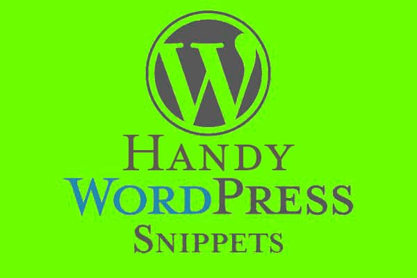 Handy Wordpress Snippets