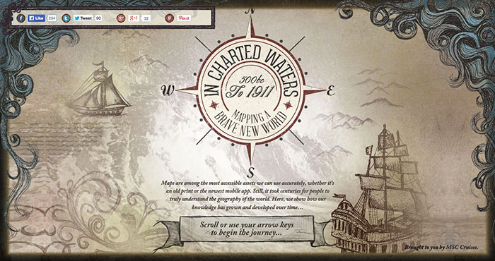 Web Design Inspiration: In Charted Waters