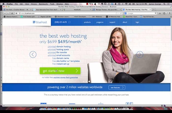 installer le thème wordpress bluehost