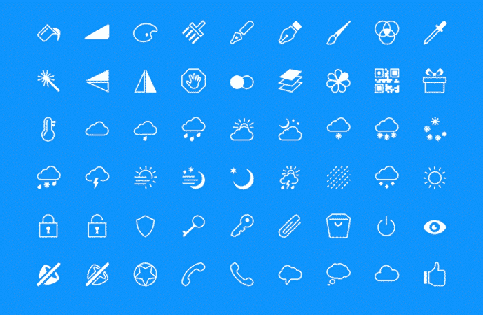 420 iOS7 Style Icons