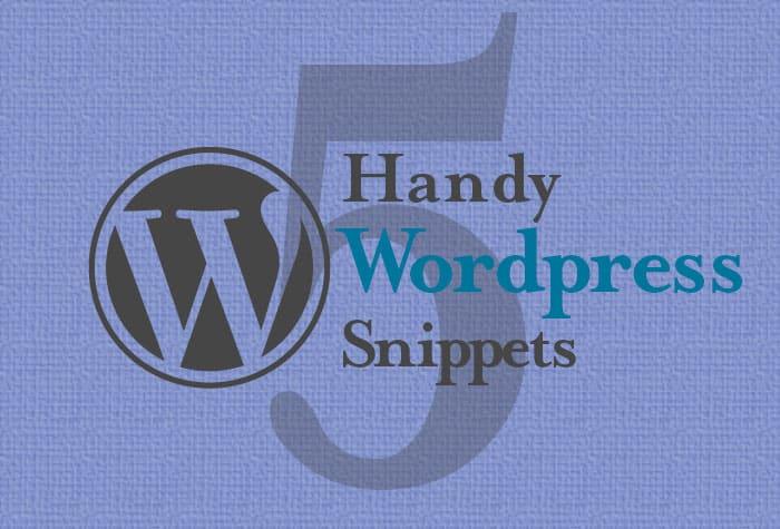 handy WordPress Snippets