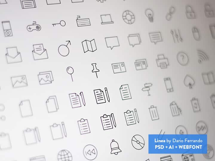 Linea Free Icon Set
