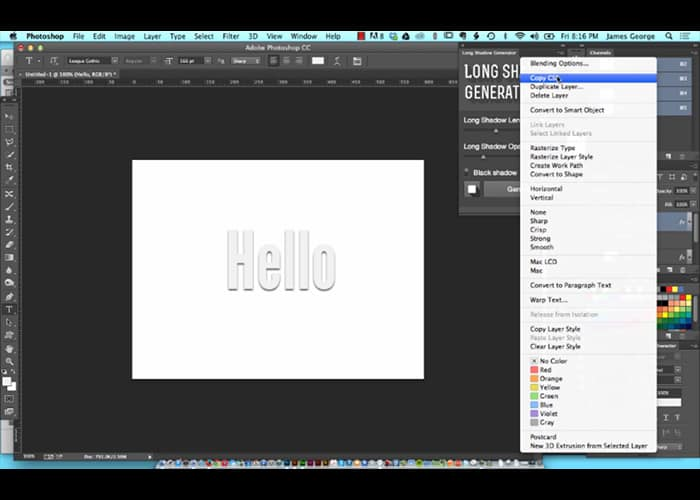 CSS Styles in Photoshop