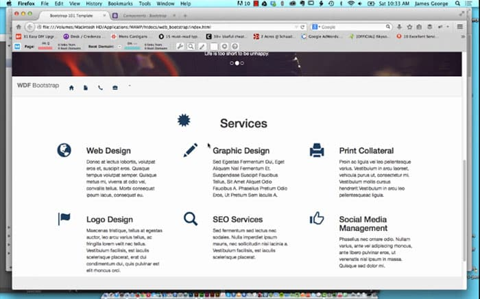 Using Glyphicons in Bootstrap