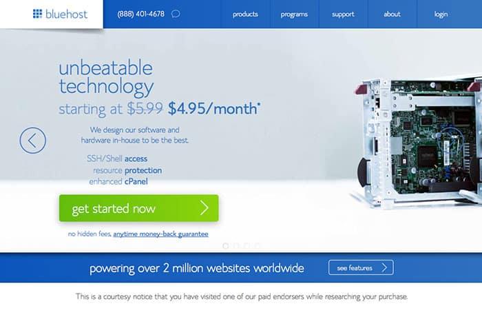 bluehost: Inspiring Web Designs