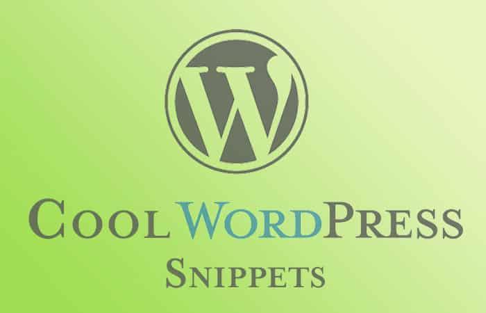 Cool WordPress Snippets