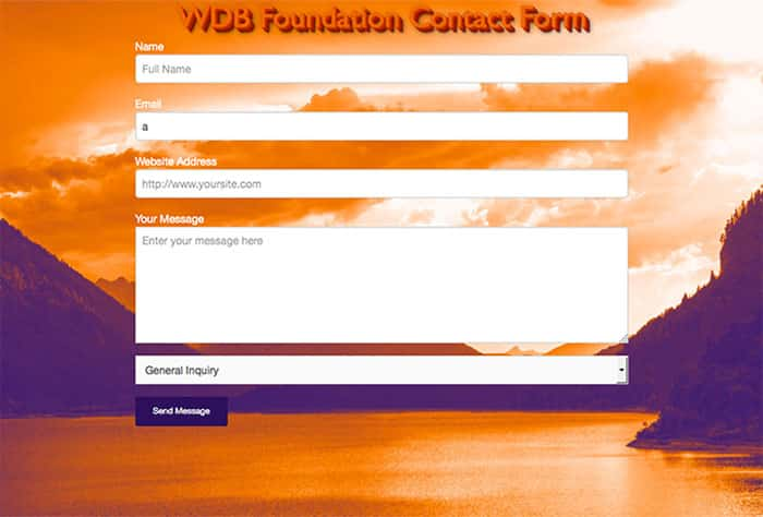 Free Foundation 5 Contact Form