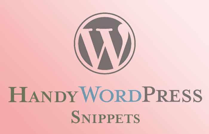 Handy WordPress Code Snippets