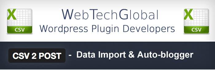 csv-2-post CSV to Post WordPress Plugins