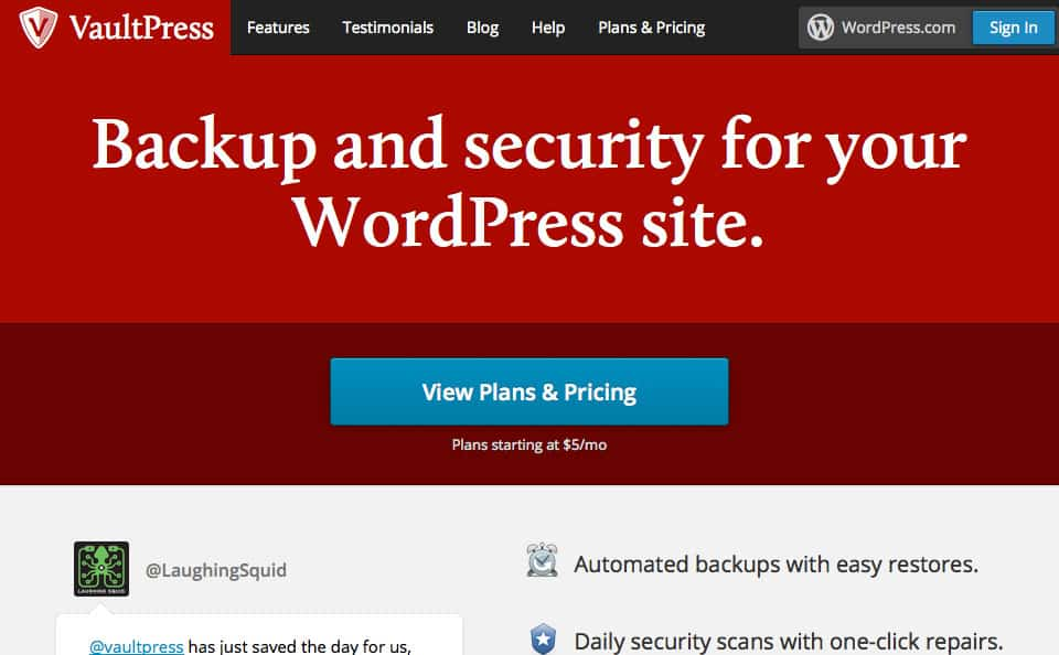 5 Best WordPress backup plugins
