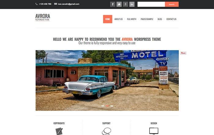 Avrora Free WordPress Theme