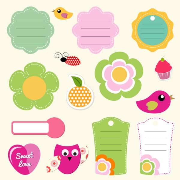 Scrapbook vector stickers