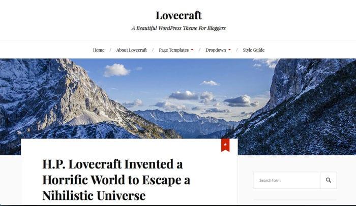 LoveCraft: Free WordPress Theme of The Week