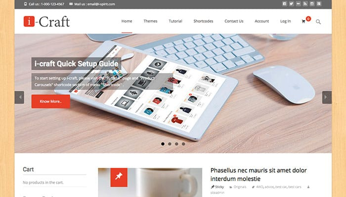 I-Craft Free WordPress Theme