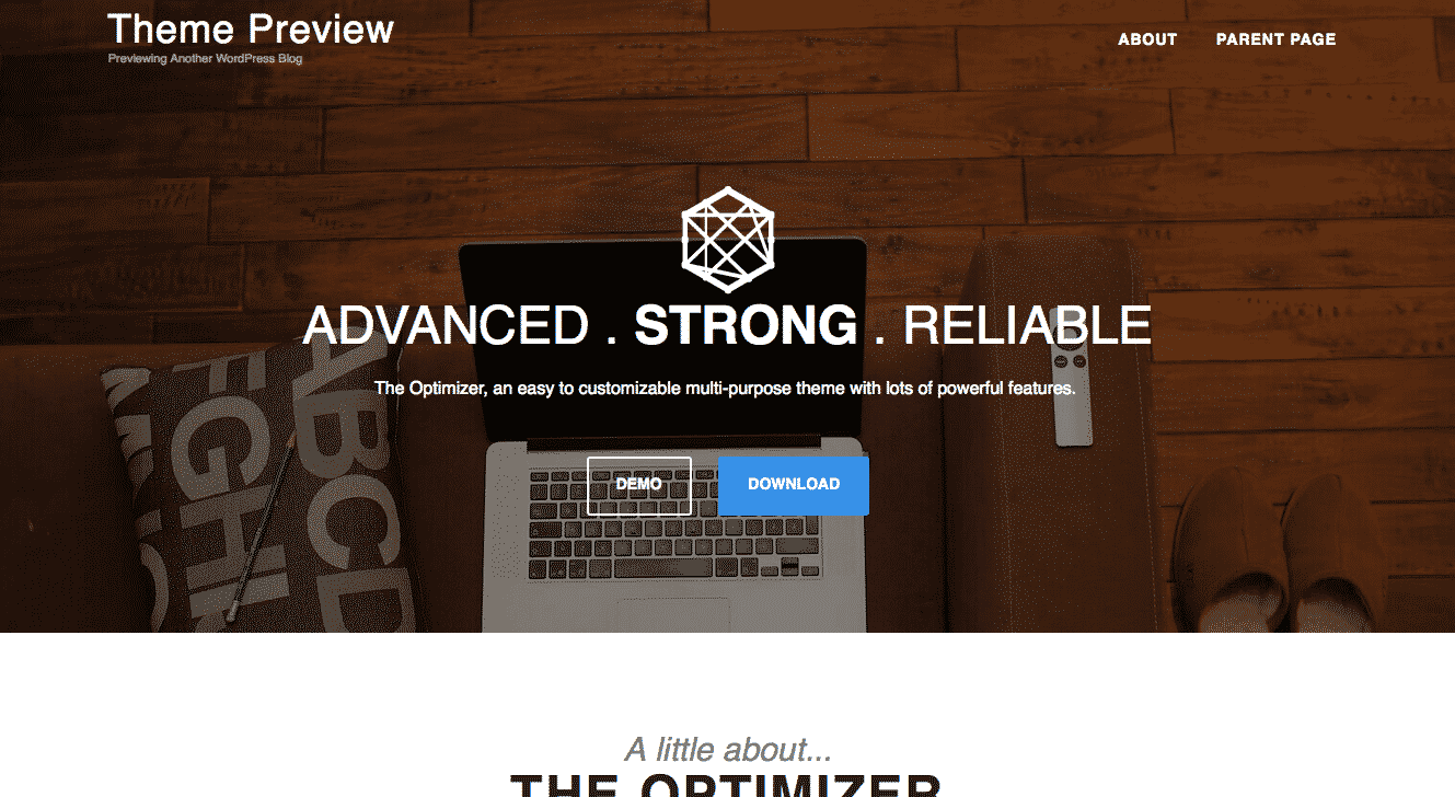 The Optimizer Free WordPress Theme