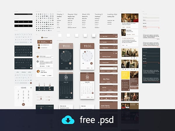 Fresh Free UI Kits For July 2015
