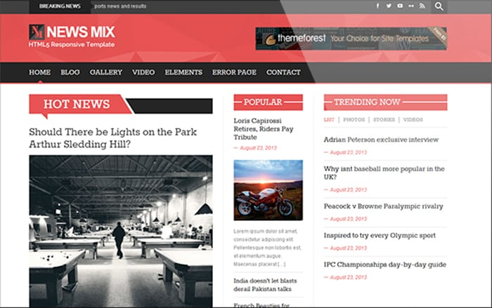 News Mix: Free Magazine WordPress Theme