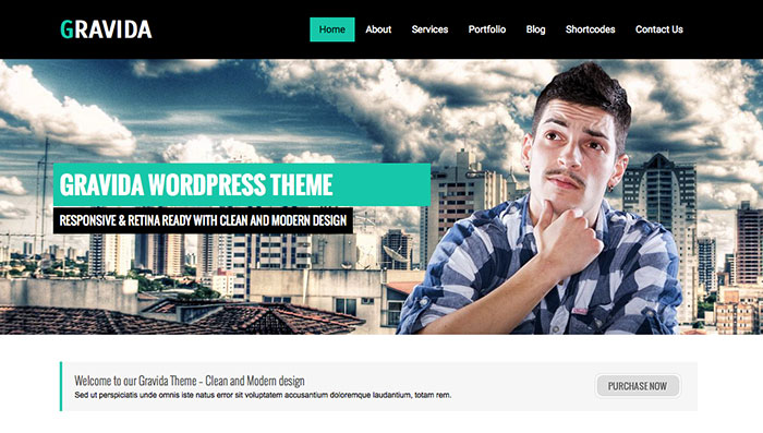 Gravida Free WordPress Theme