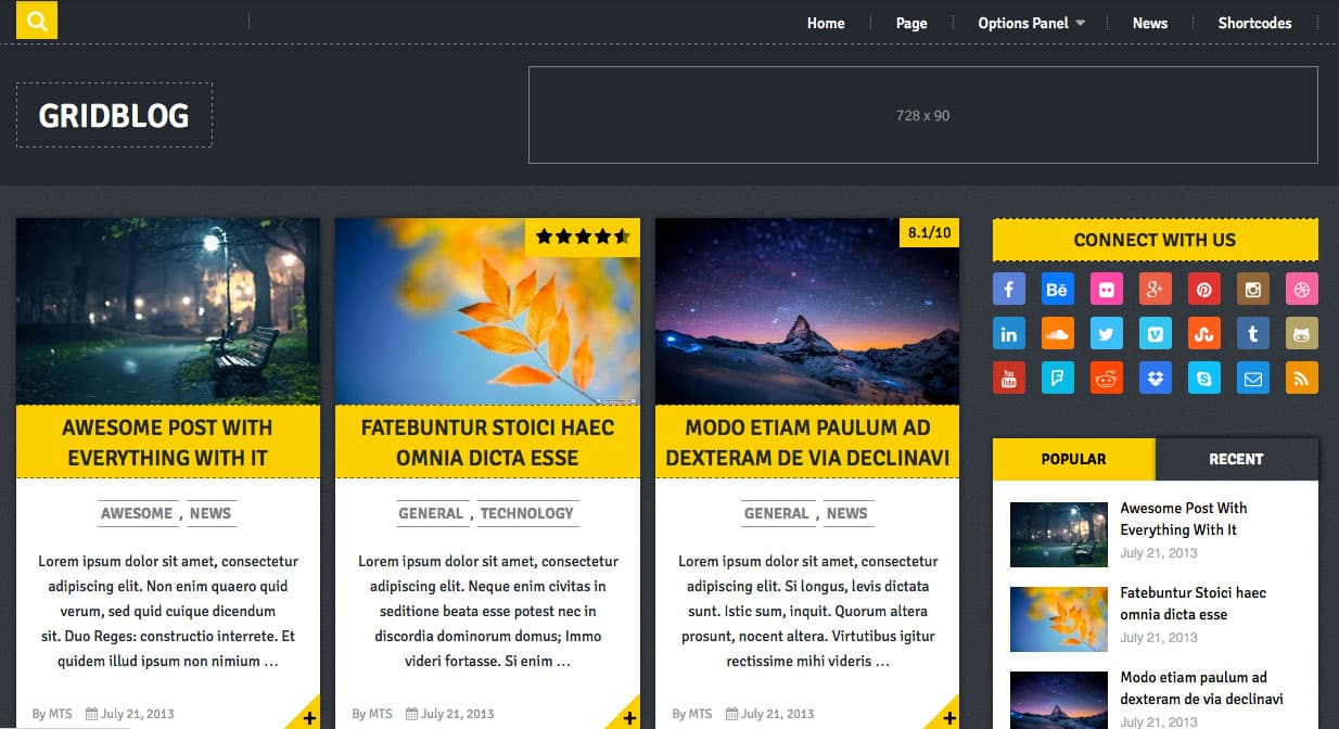GridBlog: Free WordPress Theme of The Week