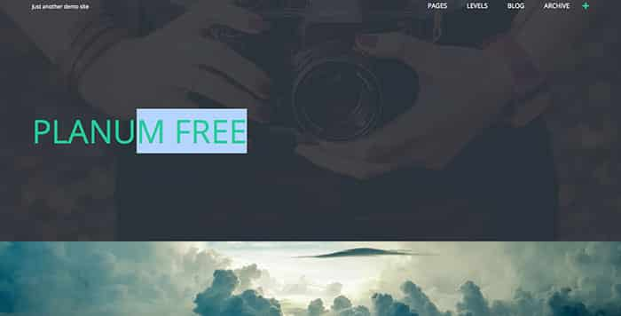 Planum Free WordPress Theme