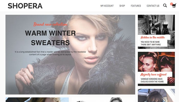 Shopera Free WooCommerce Theme