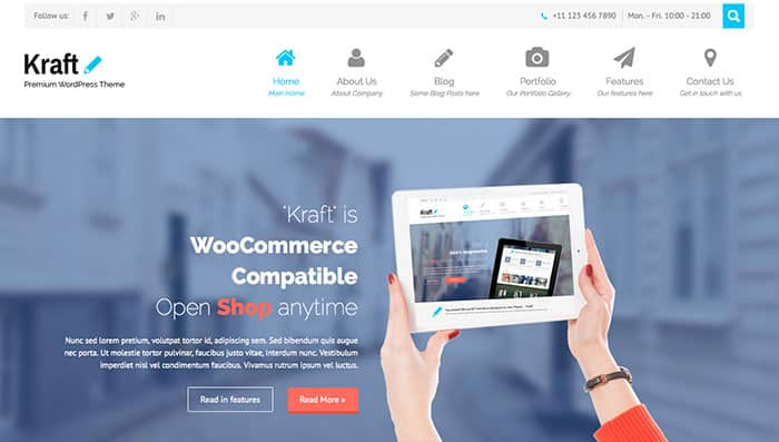 SKT Kraft: The Free WordPress Theme of the Week