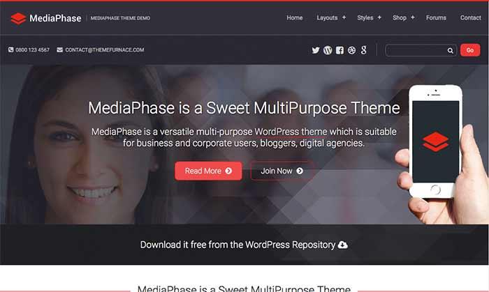 MediaPhase free WordPress theme