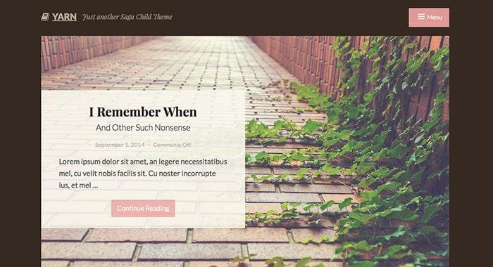 Yarn Free WordPress Theme