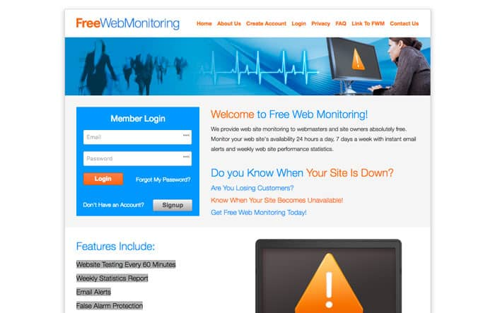 free website monitoring