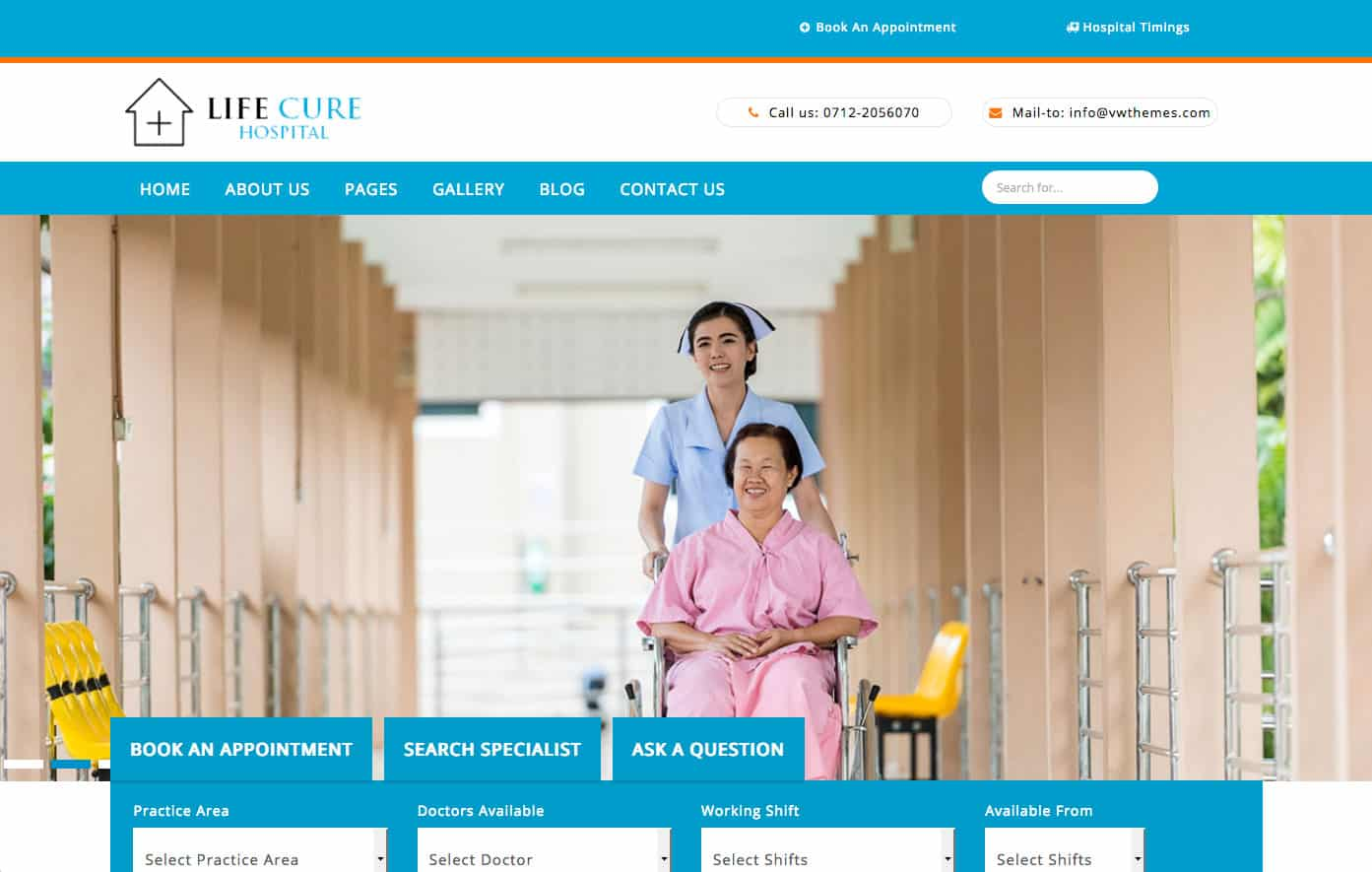 VW Hospital Lite Free WordPress theme of the Week