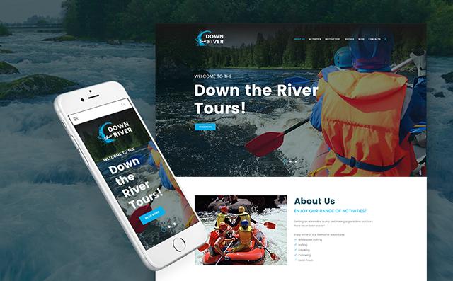 Rafting and Paddling WordPress Theme