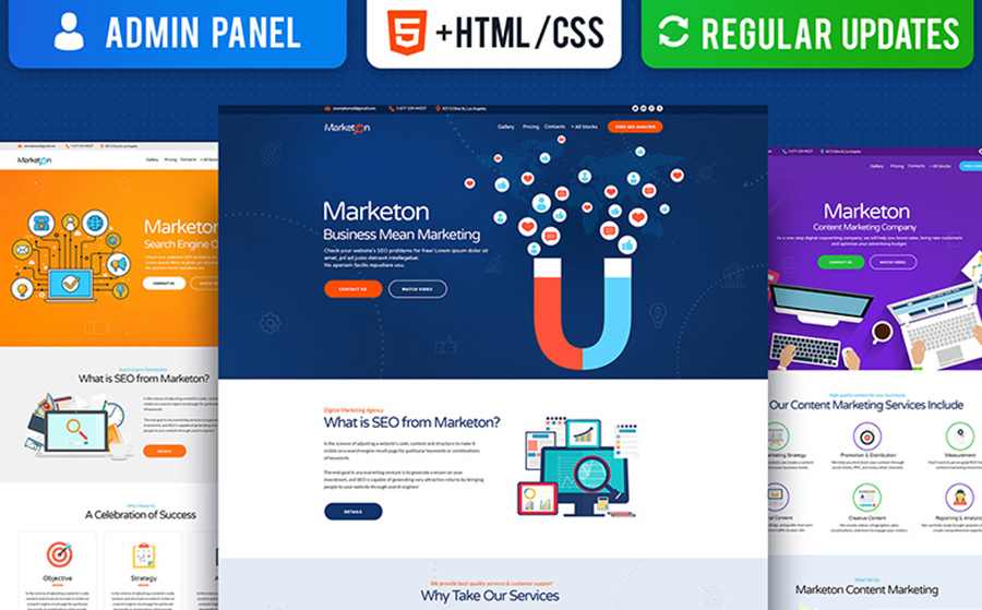 Amazing Moto CMS Landing Page Bundle for a Giveaway Price: Save up to 88%!